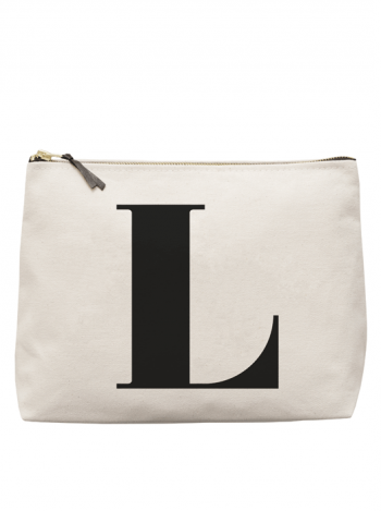 Necessär med bokstaven L, bara bokstäver, bokstav, necessär, namnpresent
